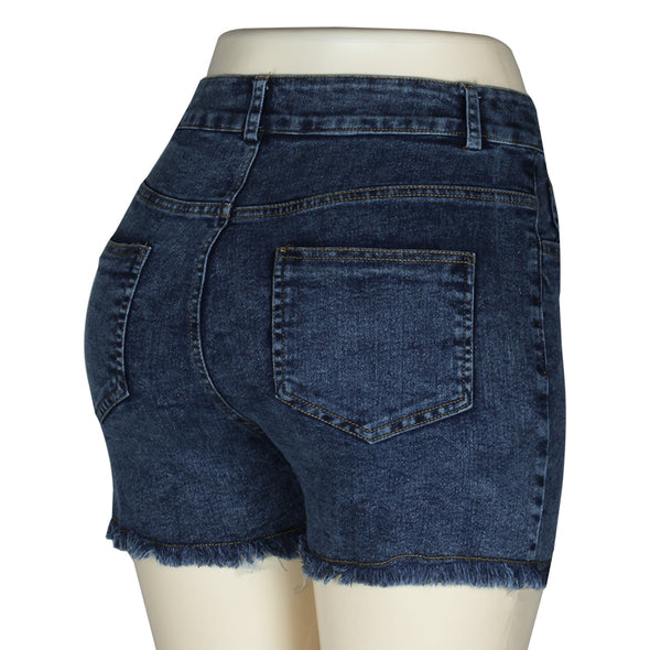 Women High Waist Denim Jean Shorts