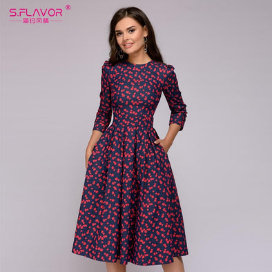 Women Elegant A-line Dress
