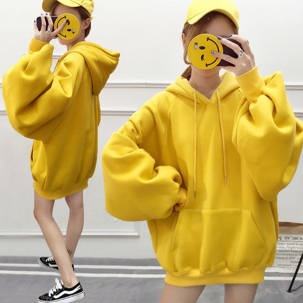 Solid  oversized hoodie