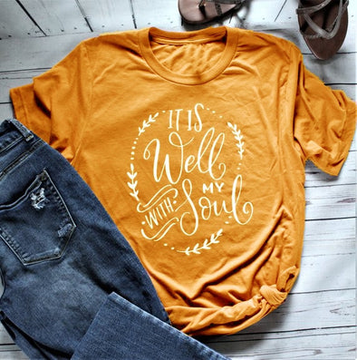 Women's It Is Well With My Soul - Short Sleeve T-Shirt
