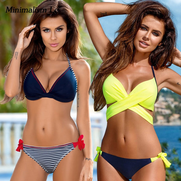 Cross Patchwork Women Swimwear