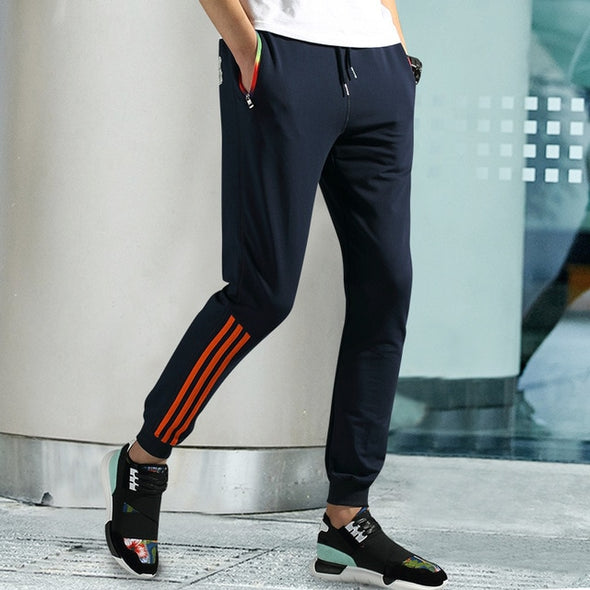 New fashion micro-elastic men's casual pants