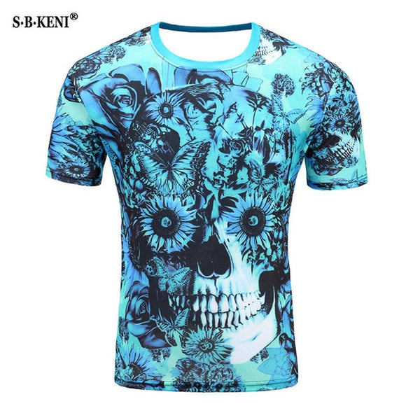 3D Print Short sleeved Hypnotic colorful Printed T-shirt