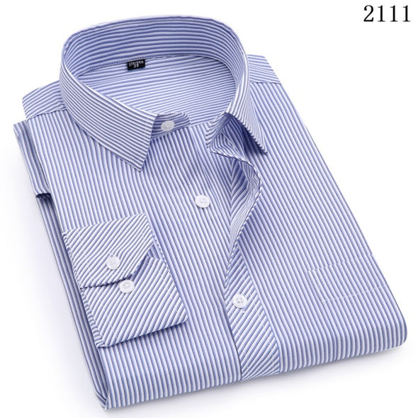 Mens Business Casual Long Sleeved Shirt