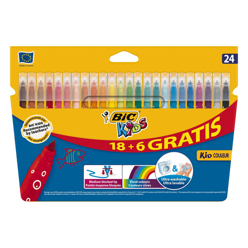 #  3  BIC Kids Kid Couleur, 18 + 6st gratis