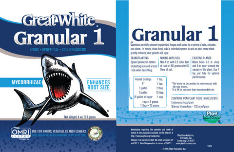 Great White Granular Label