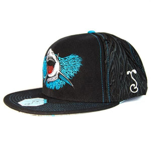 Image of side of Great White hat