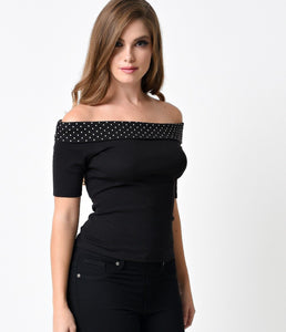 Chloe Top Black White