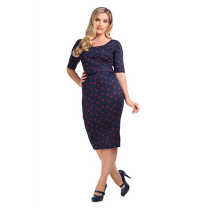 Amber Ladybird Pencil Dress