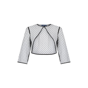 Belle Polka Dot Bolero Black