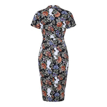 Load image into Gallery viewer, CATERINA FOREST FLORAL PENCIL DRESS