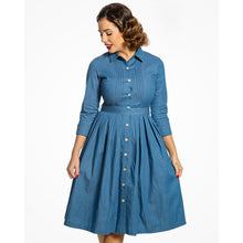 Load image into Gallery viewer, Charlotte Light Blue Denim Shirt Dress