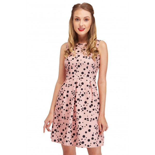 Joan Classic Funky Polka Dot Dress