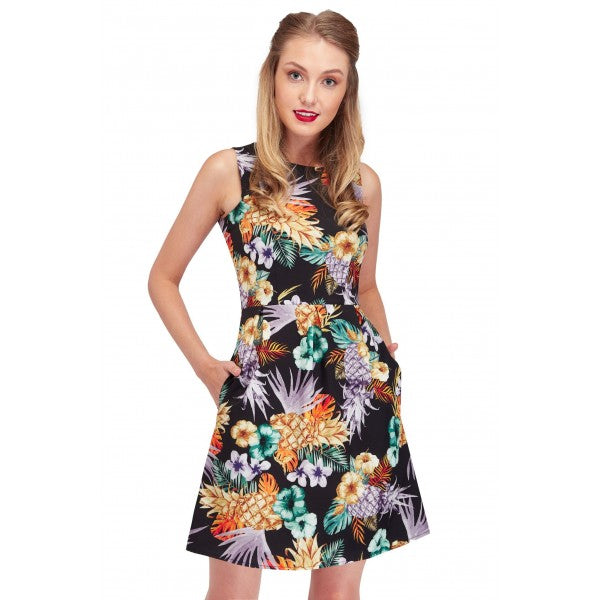 Joan Classic Tropical and Floral Summer Dress