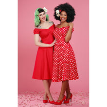 Load image into Gallery viewer, Dolores Doll Polka Dot Dress Red White