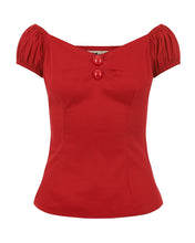 Load image into Gallery viewer, Dolores Plain Top Red