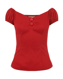 Dolores Plain Top Red
