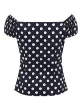 Load image into Gallery viewer, Dolores Top Polka Blue