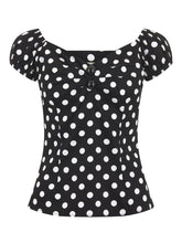 Load image into Gallery viewer, Dolores Top Polka Black