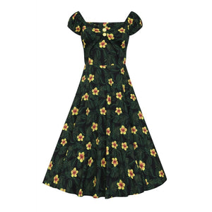 DOLORES TROPICAL HIBISCUS DOLL DRESS