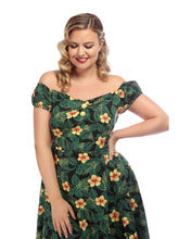 Load image into Gallery viewer, DOLORES TROPICAL HIBISCUS DOLL DRESS