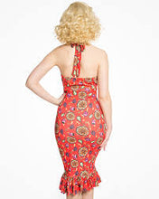 Load image into Gallery viewer, Missy Red Fruit Wiggle Dress