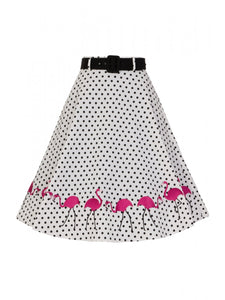 Fancy Flamingo Swing Skirt