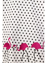 Load image into Gallery viewer, Fancy Flamingo Swing Skirt