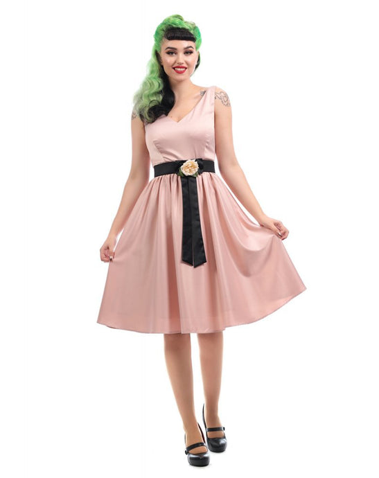 Federica Swing Dress in Pale Pink