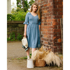 Francy May Cornflower Blue Tea Dress