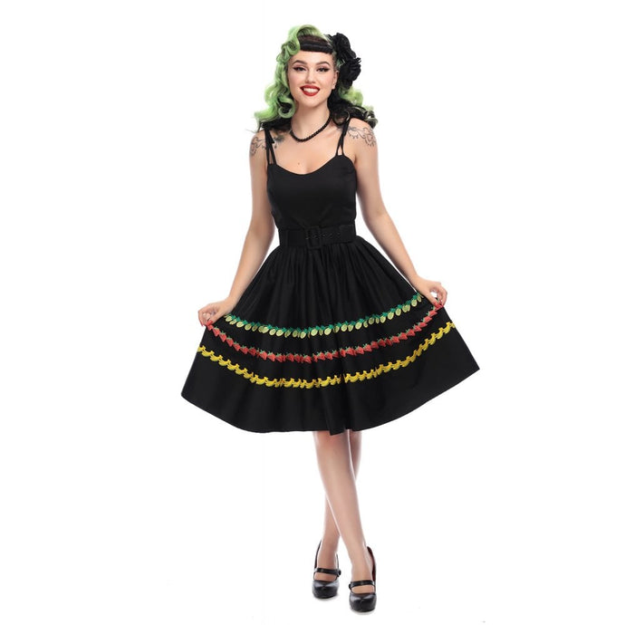 Jade Fruity Swing Dress
