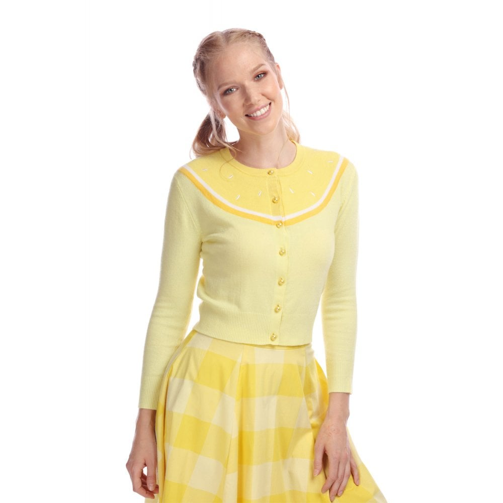 Jessie Lemon Cardigan