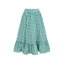 Load image into Gallery viewer, Katherine Gingham Swing Skirt Green