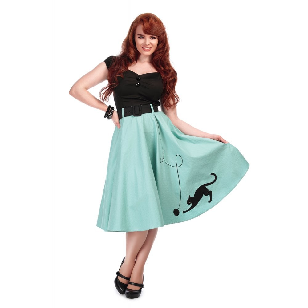 Kitty Cat Swing Skirt Light Green