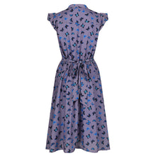 Load image into Gallery viewer, Kody Lavender Butterfly Print Tea Dress