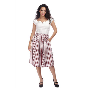 Kylie Candy Stripe Swing Skirt
