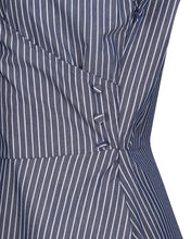 Load image into Gallery viewer, Laura Rustic Pinstripe Tea Dress