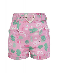 Lisa Summer Flamingo Shorts