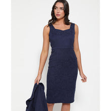 Load image into Gallery viewer, Opal Navy Pencil Dress and Jacket Twin Set