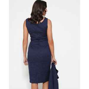 Opal Navy Pencil Dress and Jacket Twin Set