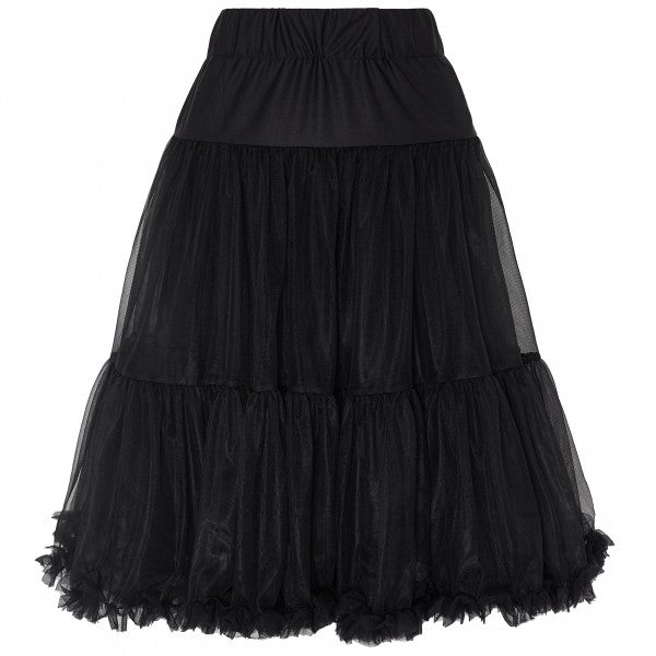 Soft Fluffy Nylon Petticoat 65cm/25.5 Inches in Black