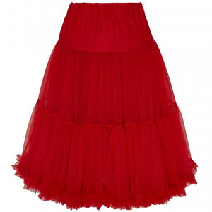 Soft Fluffy Nylon Petticoat 65cm/25.5 Inches in Red