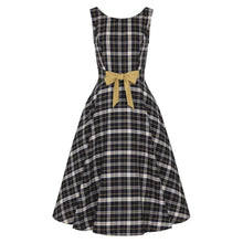 Load image into Gallery viewer, SILVA GEEK CHECK SWING DRESS