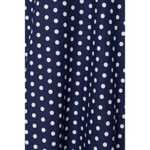 Load image into Gallery viewer, Shirley High Waist Full Circle Skirt in Blue Polka Dot