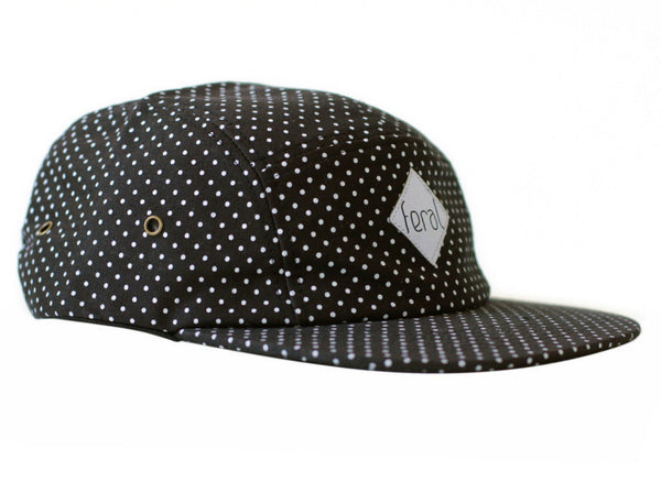 The 5 Panel Hat - Polka Dot