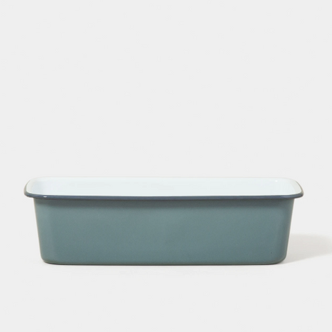 Falcon | Small Enamel Baking Tin - Pigeon Grey