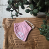 Four Threads | Unisex Cotton Face Mask - Bubblegum Pink with Tie-Dye