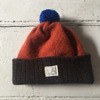 Liadain Aiken | Lambswool Baby Hat - Brown/Orange/Blue