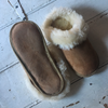 Unisex Sheepskin Slippers with Trim