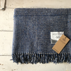 Molloy & Sons | Basket Weave Tweed Blanket - Blue